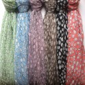 Silk and viscose scarves