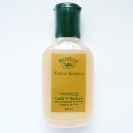 Herbline gold and saffron cleansing gel
